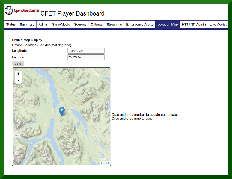 Location Page Screenshot